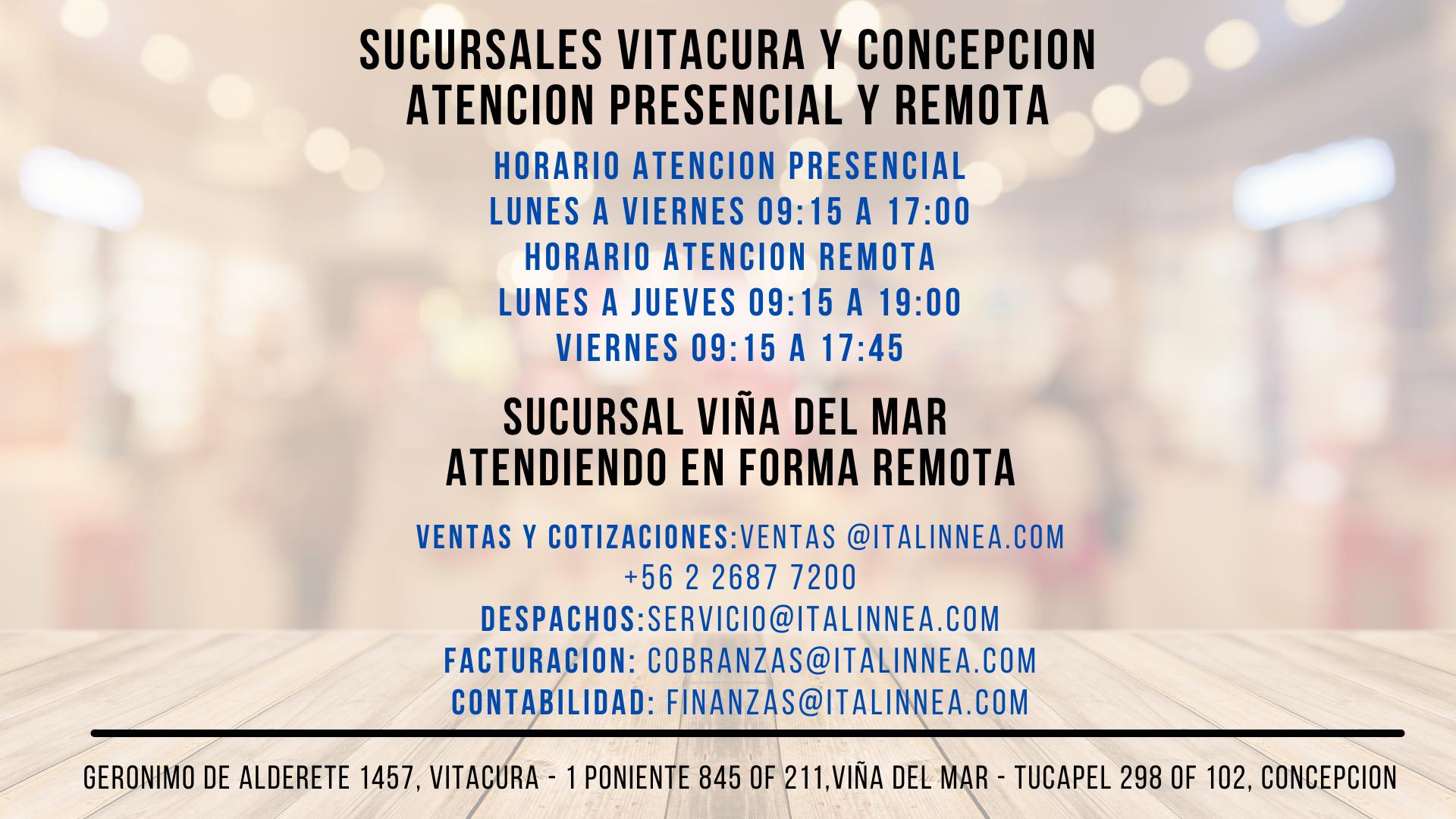 HORARIO CASA MATRIZ Y SUCURSALES